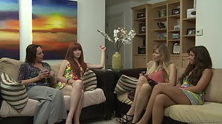 Lesbian fun with amateur women in need for orgasms