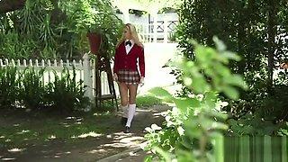 Riley Star - Cute girl in school uniform gets fucked by Mike Blue