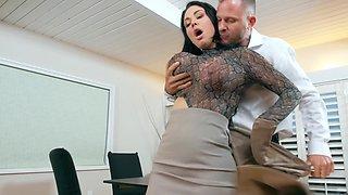 Nasty people having super nasty sex on the desk