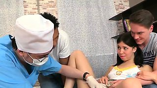 Doctor stares hymen examination and virgin kitten nai41fml