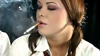 Miss nadia &amp miss cara smoking fetish schoolgirl roleplay