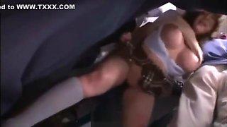 schoolgirl japanese abused in bus