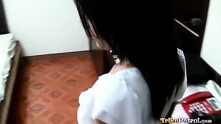 Cheating Filipina girlfriend gives pussy and ass to another