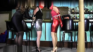 Nakita in a very exotic bdsm threesome spanking