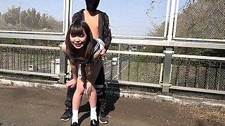 Jav College Girl Chan Fucks Outdoors On Public Bridge