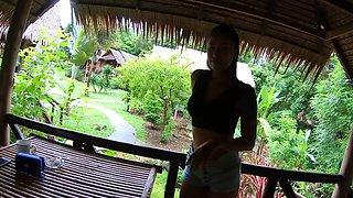 Amateur Asian girlfriend cabana hardcore