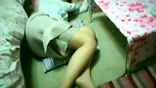 Sleeping Asian girl with big tits gets pumped full of dick