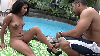 Ass eating leads to balls deep pounding with HOT Alessandra Carvalho
