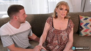 Grandma gets surprised for her birthday with a big-dick