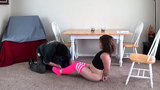 Spanking Lesson in satin panties