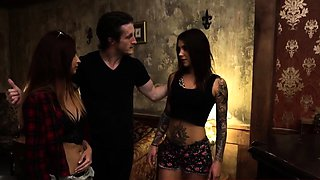 Teen slave Excited young tourists Felicity Feline and Jade J