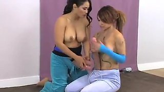 Tow girls whith monster cock