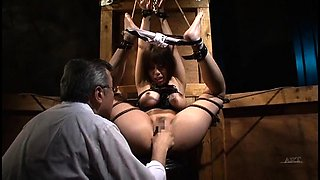 Cute Asian babe with a sweet ass learns a lesson in bondage