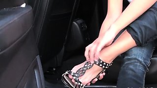 Female domination action with sexy hottie humiliating lover