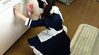 Japanese teen in school uniform