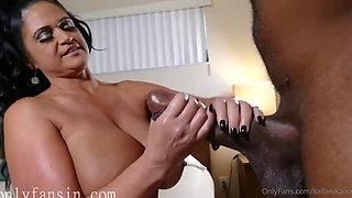 Curvy Bigtit Latina MILF star's home BBC fuck