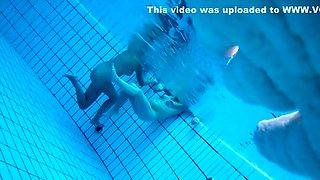 Voyeur films inside sauna swimming pool