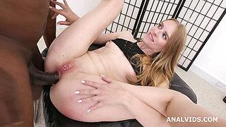Skinny Blonde MILF Nikki Wrecks Her Butthole With a Legendary Massive Black Dick