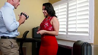 Hot brunette Gracie Glam fucked by Johnny Sins at office