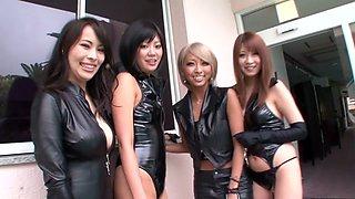 Hottest Japanese chick Kyoko Maki in Amazing JAV censored Cumshots, Party scene