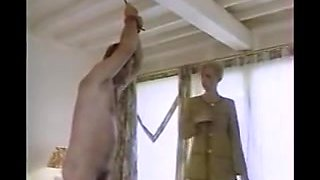 Romantic vintage BDSM movie with hot slaves