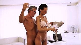 Young and old couple swap first time Finally she's got her b