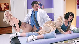 horny doctor gets rid of a mom to fuck her daughter