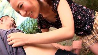 Horny Japanese model Ruri Saijou in Exotic JAV censored Swallow, Gangbang scene