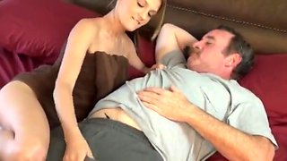 Oh god dad yes fuck my tight pussy !