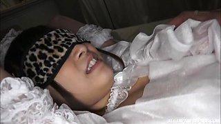 Irresistible ASIAN bride Kimito Ayumi enjoys some sex toys
