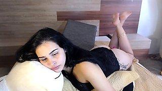 Lingerie sexy Tgirl masturbation