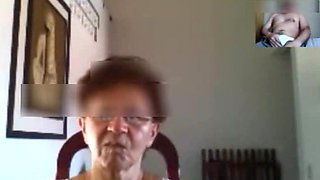 Brazilian Granny on webcam