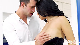 GIRLSRIMMING Hot rimming with Busty black haired beauty Ava Black