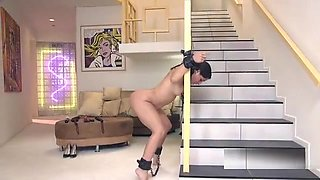 Dude anal fucks lost slave in his house