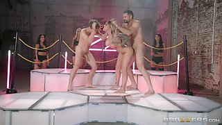 Tattooed Cougar Gets Gangbanged In The Filthy House - Gina Valentina, Lela Star And Bridgette B