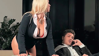 Stunning big tits secretary fucked hardcore