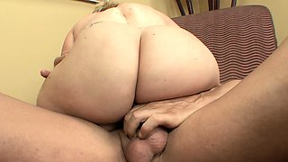 Blonde midget Stella expressing her passion for sucking and fucking
