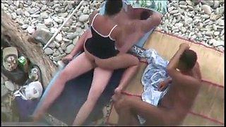 Threesome Couples Sex Spycam Nude Beach