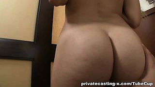 Paid audition with messy cumshot