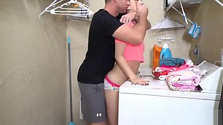 Sly brother brutally fucked innocent 18 year old sister in the bath! She has a very juicy fresh pussy! Mom did not know anything!