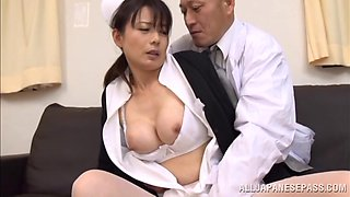 Hot Japanese nurse fucked by the doctor