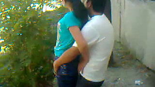 Uzbek young couple outdoors