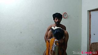 telugu aunty standing sex with husband