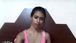 Perfect skinny indian teen hottie on cam