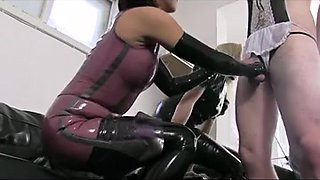 Kinky guy dominated by two awesome sluts
