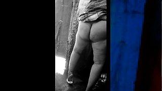 Bangla desi Big ass Aunty hidden bath by not nephew