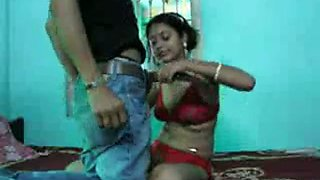 Horny dude fully utilizes his young Indian wife in the bedroom