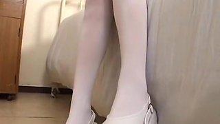 Hottest Japanese slut in Exotic Nurse, Foot Fetish JAV scene