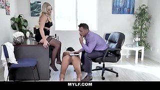 Alexis Monroe In Bossy Milf Interviews Brunette Slut For The Office Slave Position