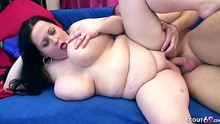 Chubby Big Tits Mom Seduce to Taboo Fuck by own Step Son